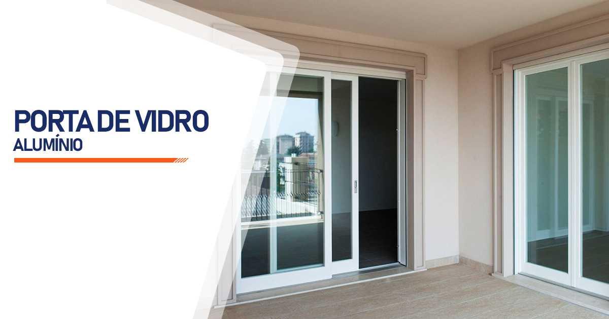 Porta De Vidro Aluminio