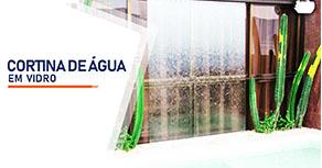 Cortina de Agua em Vidro SP Zona Sul