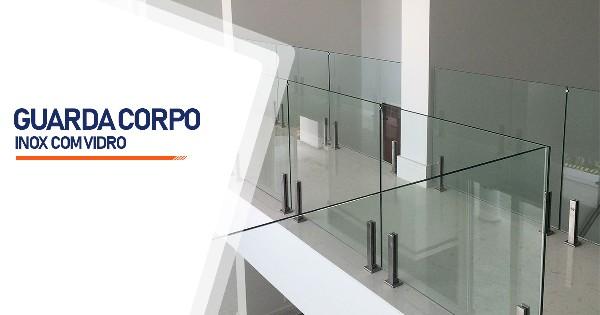 Guarda Corpo de Inox com Vidro   SP Zona Sul Jardim Ellus