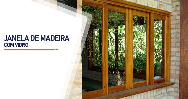 Janela De Madeira Com Vidro SP Zona Sul