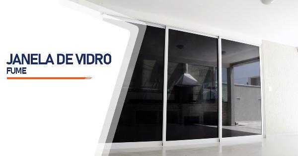 Janela De Vidro Temperado Fume  SP Zona Sul Jardim Ellus